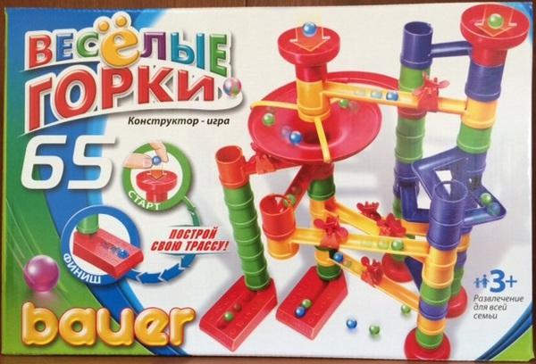 Горка-конструктор Bauer Весёлые горки 65 элемента (в коробке) - фото товара