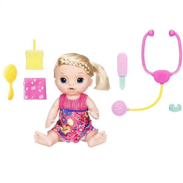 BABY ALIVE. Кукла Малышка у врача (Блондинка) - фото товара